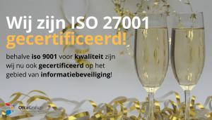 ISO 27001 gecertificeerd voor DutyFlow en iTel Alert